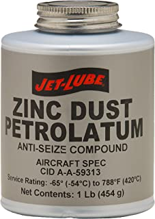 Jet-Lube Zinc Dust Petrolatum Anti Seize Compound, 1 lbs Plug Top Can