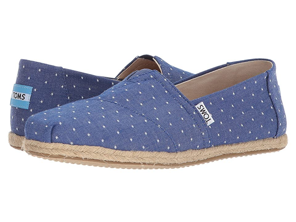 TOMS Seasonal Classics (Imperial Blue Dot) Women's Slip on Shoes