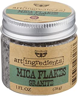 Creative Converting Finnabair Art Ingredients Mica Flakes, 1 oz, Granite
