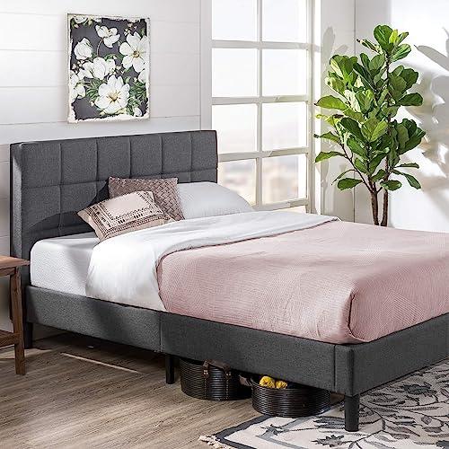 Zinus Lottie Upholstered Square Stitched Platform Bed