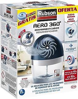 comprar comparacion Rubson AERO 360º Deshumidificador recargable sin cable, absorbe humedad, previene la condensación y los malos olores, anti...