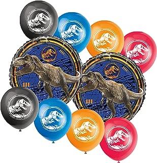 Jurassic World Fallen Kingdom Birthday Party Balloon Bouquet, 10 pieces