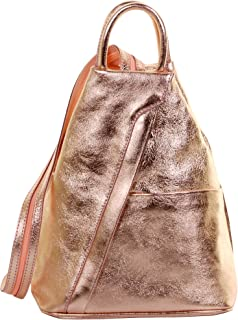 Primo Sacchi® Italian Soft Napa Leather Top Handle Shoulder Bag Rucksack Backpack. Includes Branded Protective Storage Bag