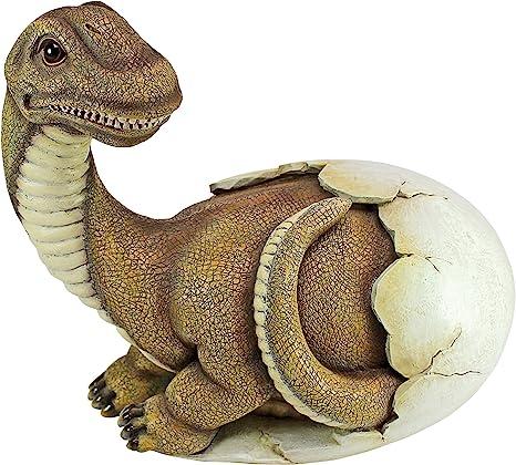 Amazon Com Design Toscano Baby Brachiosaurus Dino Egg Statue Garden Outdoor