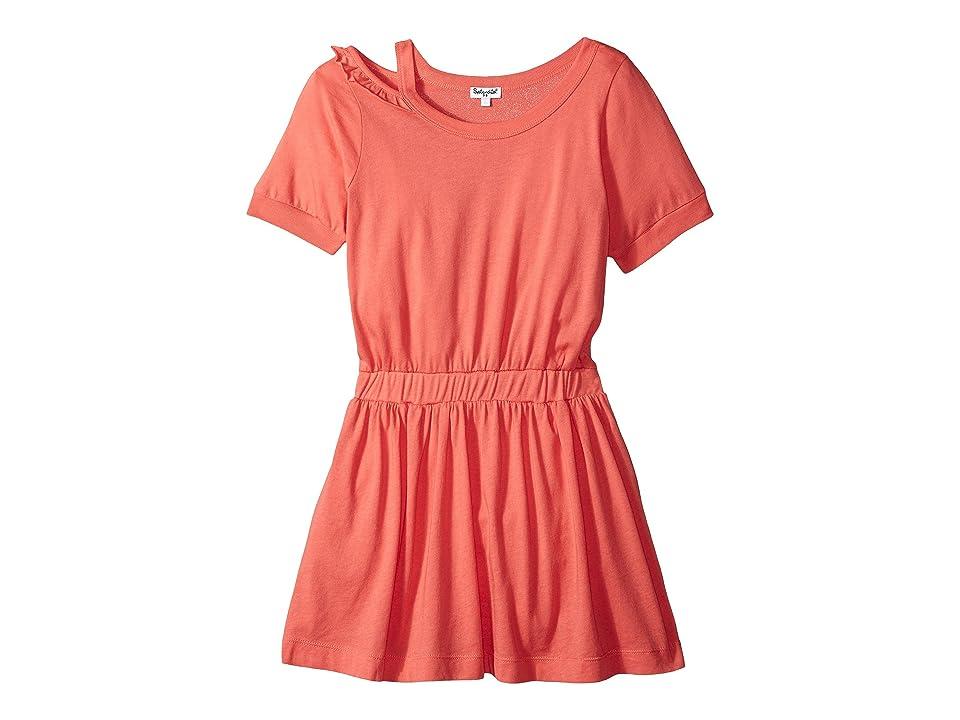 Splendid Littles Cold Shoulder Dress (Toddler) (Coral Fan) Girl