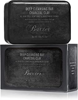 Baxter of California Deep Cleansing Body Soap Bar For Men | Charcoal Clay | All Skin Types | 7 oz