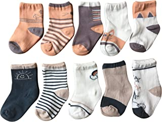 QandSweet Baby Boy Combed Cotton Socks Infant Ankle Sock for Newborn Toddlers Childrens