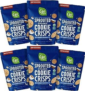 Go Raw Organic Cookie Crisps, Sweet Crunch, 3 oz. Bags (Pack of 6) — Superfood | Paleo | Gluten Free Snack Crisps | Vegan