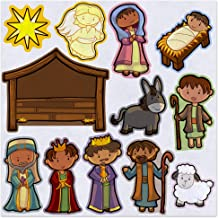 Away in a Manger Christmas Nativity Felt Play Art Set Flannel Board Story Storyboard Pieces