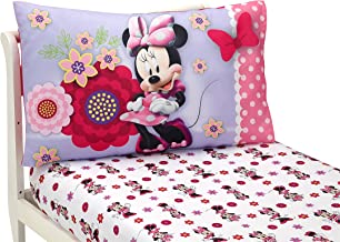 Disney Minnie Mouse Bow Power Toddler Sheet, 2 Piece Set, Pink, Purple