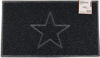 Nicoman tapete para Puerta de Exterior, Zona húmeda, Ducha, Piscina, Barco, Piso de Drenaje Hueco, Opt1【Black】, Opt2-STAR【...
