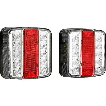 Hehemm Anhänger Rückleuchten 20 Led 12v Rücklicht Auto Lkw Anhänger Auto Bremslichter Heckleuchte Rücklicht Kontrollleuchte Nebellichter Rückfahrlicht 2 Pcs Auto
