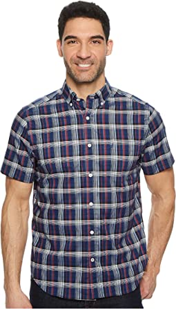 Nautica - Wear To Work Short Sleeve Large Plaid Woven Shirt