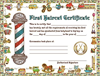 12 count new style Children / Kids First Haircut Certificates