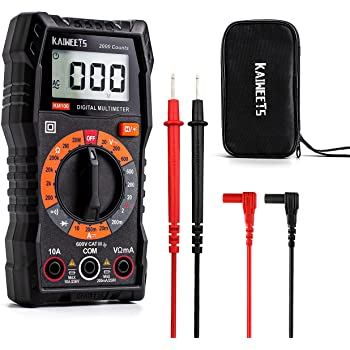 KAIWEETS Multimeter 2000 Counts Digital Multimeter with DC AC Voltmeter, Ohm Volt Amp Test Meter and Continuity Test Diode Voltage Tester