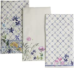 Maison d' Hermine Faïence 100% Cotton Set of 3 Kitchen Towels 20 Inch by 27.5 Inch