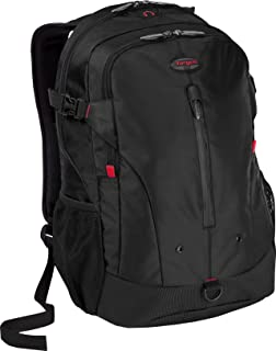 Targus Terra XL Business Travel Commuter with Laptop Sleeve Designed for 16-Inch Notebooks Backapck, Black/Red Accents (TSB226US)