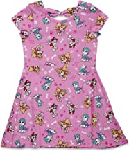 Nickelodeon Paw Patrol Girls All-Over Print Short Sleeve Dress with Back Bow