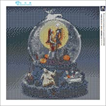 Zimal 5D Full Round Diamond Embroidery Diamond Painting Cross Stitch Nightmare Before Christmas Jack and Sally Mosaic Home...