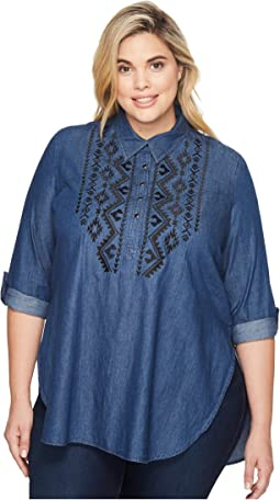 Roper Plus Size 1313 5 Oz Indigo Denim Tunic