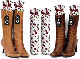 My Boot Trees, Boot Shaper Stands for Closet Organization. Many Patterns to Choose from. 1 Pair. (Cherries)