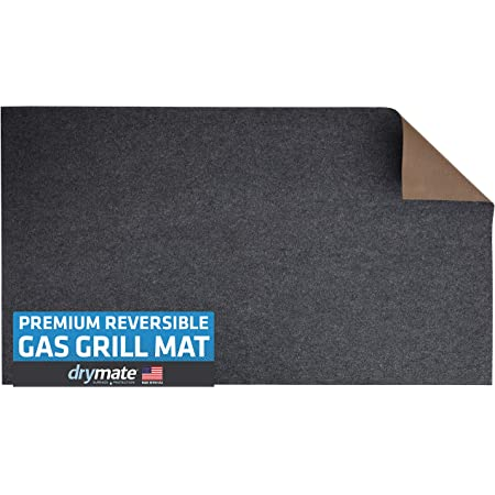 """Drymate Premium Reversible Gas Grill Mat (Charcoal/Brown), (36"""" x 60""""), Under The Grill Protective Deck and Patio Mat - Absorbent/Waterproof/Durable (Made in The USA)"""