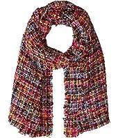 BSS3658 Knit Multi Check Scarf
