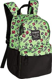 JINX Minecraft Scatter Creeper Kids School Backpack, Green, 16