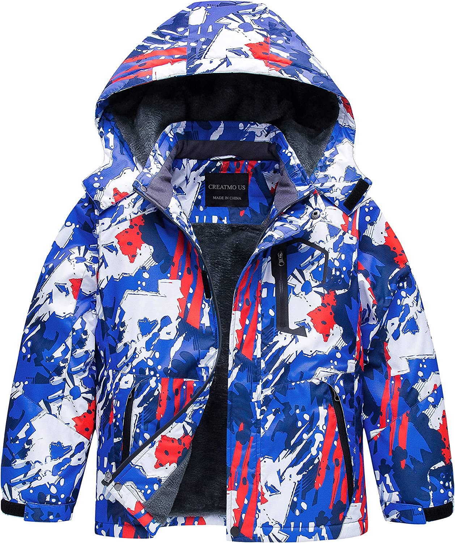 Boy's Waterproof Ski Jacket Warm Coat Windpro Winter Fleece Snow Max 44% OFF Latest item
