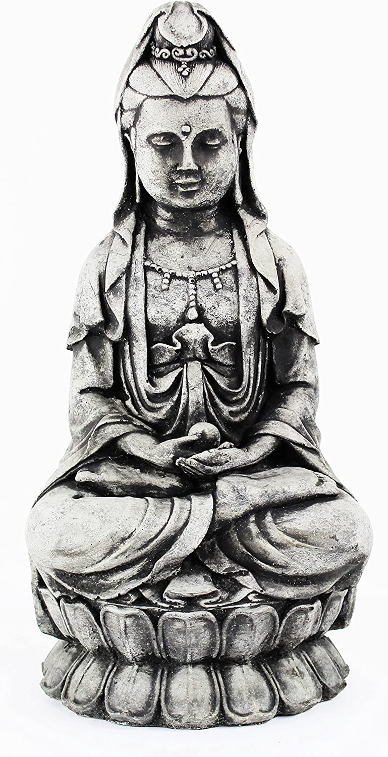 Kuan Yin Courier shipping free Statue Home and Garden Statues Large discharge sale Asian Concrete Cement Fi