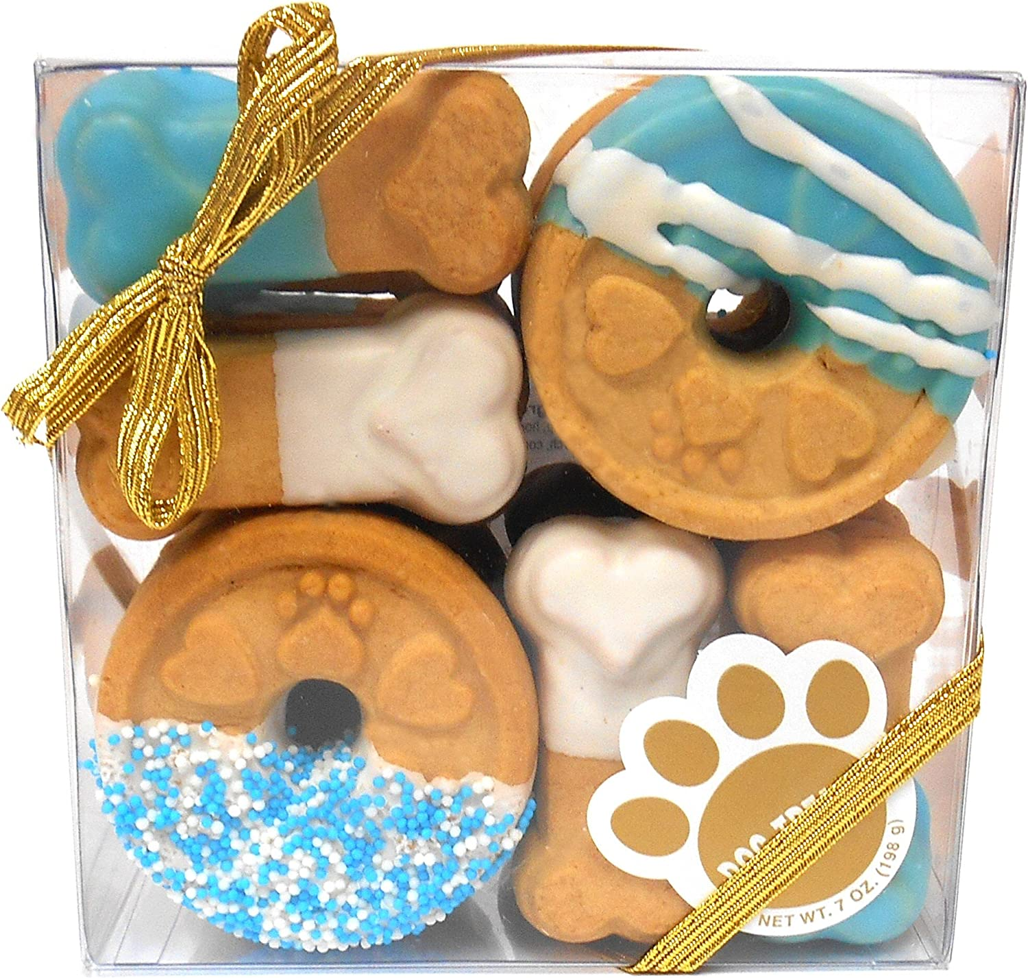 Claudia's Canine Cuisine Signature Gift Box of Dog Cookies, 7Ounce, bluee Buddies