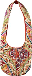 Bops Handcrafted, Unique, Kantha Fabric Sling Bag, Ladies Purse, Crossbody Boho Bag, Shopping Bag, Travel, for Women