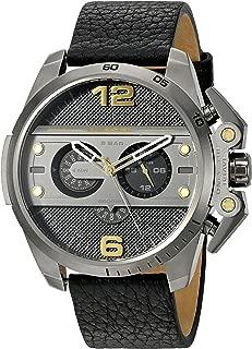 Diesel Men's DZ4386 Ironside Gunmetal Black Leather Watch