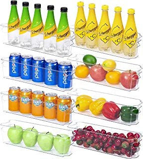 YIHONG Refrigerator Organizer Bins, 8 Pcs Fridge Organizer Bins for Freezer Cabinet Kitchen Organization and Storage, Clea...