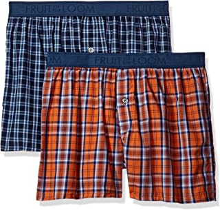 Fruit of the Loom Men's Cotton Stretch Boxer (Pack of 2)