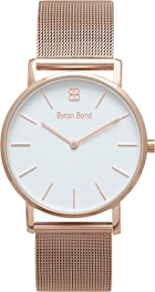 38mm Ultra Thin Slim Case Minimalist Fashion Watch for Men & Women by Byron Bond