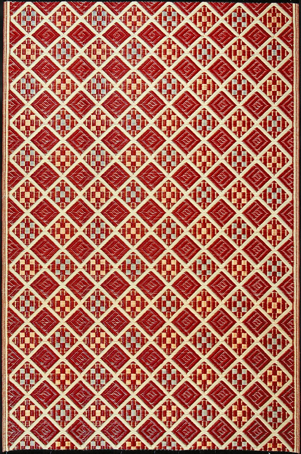 Mad Mats Scotch Indoor Outdoor Floor Mat, 6 by 9-Feet, Cranberry