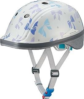 オージーケーカブト(OGK KABUTO) 自転車 ヘルメット 子ども用 DUCK(ダック) リボンドットホワイト 幼児・児童用(頭囲:49~54cm未満)