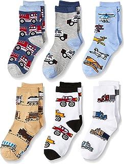 Jefferies Socks Little Boys' Trains/Trucks/Cars Pattern Crew