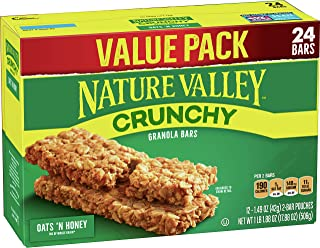 Nature Valley Granola Bars, Crunchy Oats 'n Honey, 17.88 oz, 24 ct (Pack of 6)