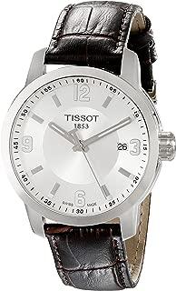 Men's TIST0554101603700 PRC 200 Analog Display Swiss Quartz Brown Watch