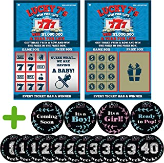 baby announcement scratch off tickets