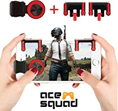 Mobile Game Controller w/Joystick - Android Gaming Triggers for PUBG/Knives Out/Rules of Survival/Fortnite - High Sensitivity L1R1 Gamepad - for iPhone Huawei Samsung by Ace Squad