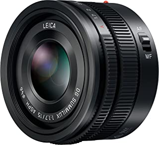 PANASONIC LUMIX G Leica DG SUMMILUX Lens, 15MM, F1.7 ASPH, Professional MIRRORLESS Micro Four Thirds, H-X015 (USA Black)