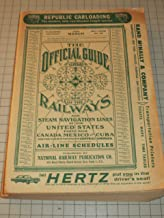 The Official Guide of the Railways and Steam Navigation Lines of the United States, Puerto Rico, Canada, Mexico and Cuba (March 1963)