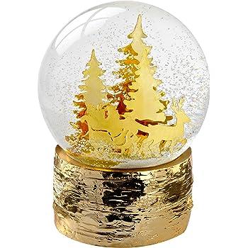 en Plastique 10/cm WeRChristmas Boule /à Neige et Le Ski de Bonhomme de Neige D/écoration de No/ël changeant de Couleur Multicolore