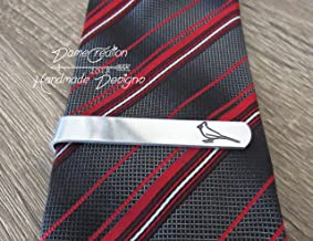 Cardinal Tie Clip, Silver Tie Clip, Groomsmen Gifts, Bird Gifts