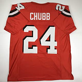 Unsigned Nick Chubb Cleveland Orange Custom Stitched Football Jersey Size Men`s XL New No Brands/Logos