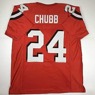 Unsigned Nick Chubb Cleveland Orange Custom Stitched Football Jersey Size Men's XL New No Brands/Logos