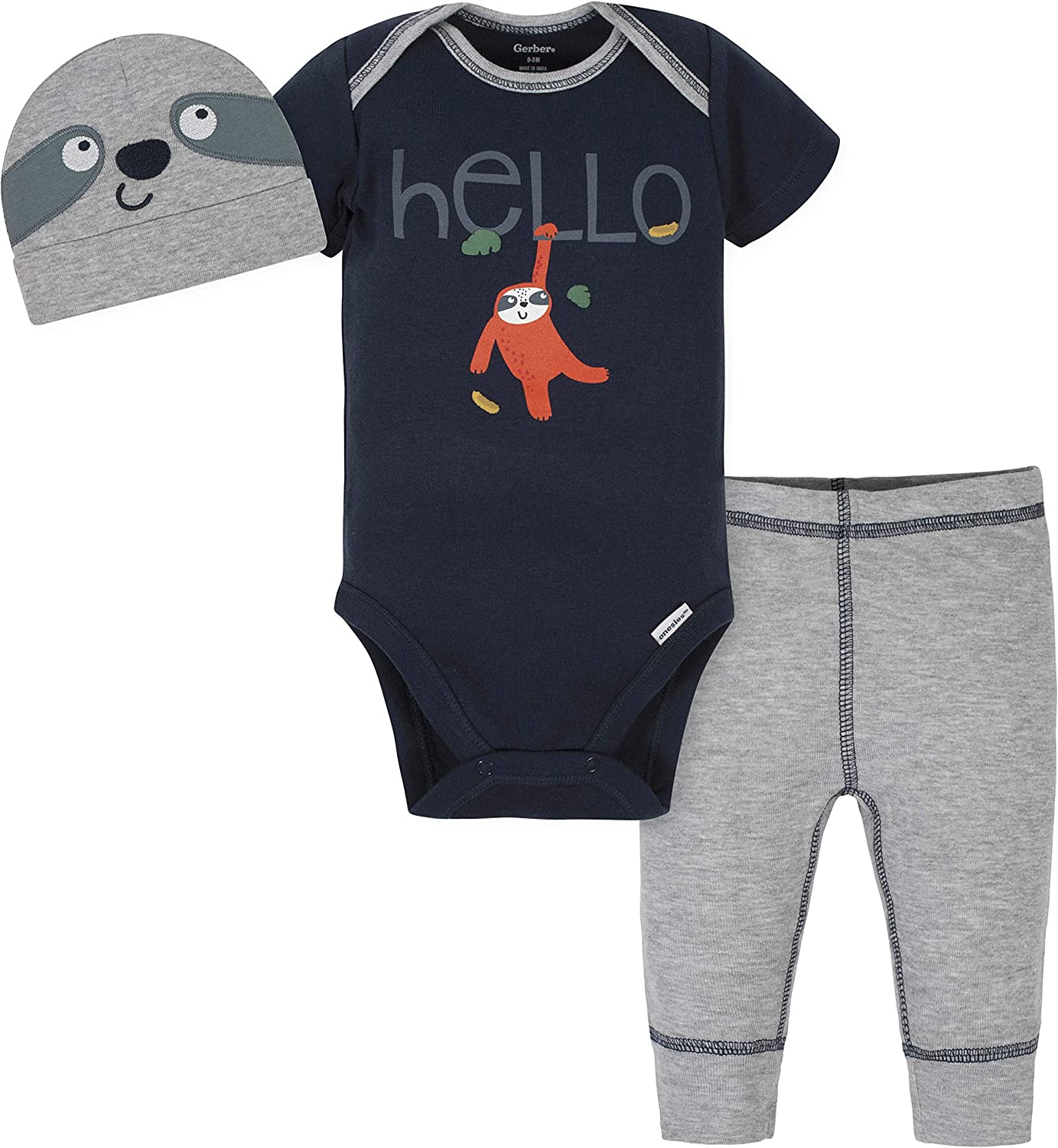 Gerber Baby Boys' 3-Piece Onesies Pant Cap Sale price Bodysuit and Set New products, world's highest quality popular!